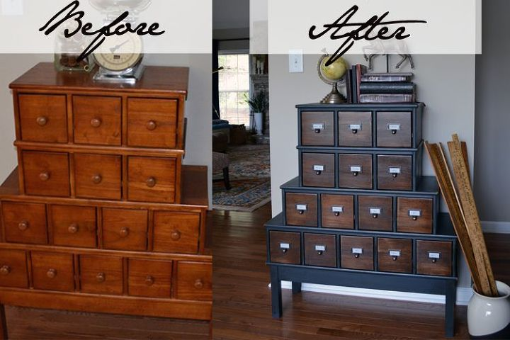 Vintage Style Apothecary Cabinet Before After Painted Furniture