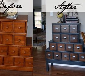 Merveilleux Vintage Style Apothecary Cabinet Before After, Painted Furniture