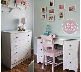 Dresser Painted Desk Update, Diy, Painted Furniture, Woodworking Projects