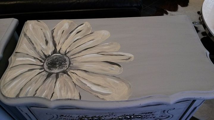nightstand painted art restore antique, painted furniture