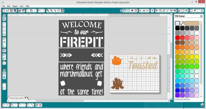 sign firepit outdoor wood, crafts, outdoor living, pallet