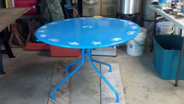 giving a new life to an old table, painted furniture