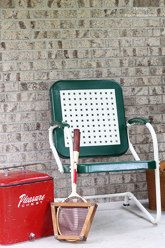 chair motel vintage update painting, decks patio porches, diy, home decor, painted furniture