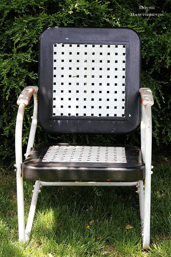 chair motel vintage update painting, decks patio porches, diy, home decor, painted furniture