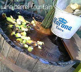 Fountain Wine Barrel Diy, Gardening, Outdoor Living, Ponds Water Features