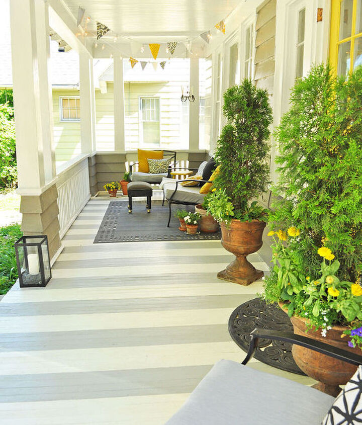 porch stripes painting diy, diy, flooring, painting, porches