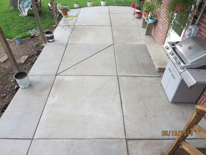 Patio after power washing.