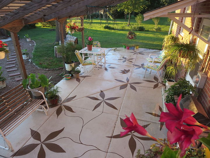 Our newly painted patio.  Love it!!!