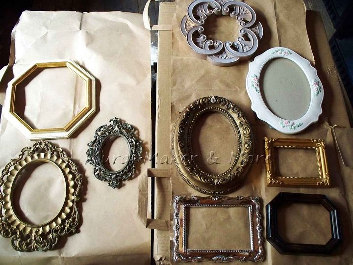 Painted Frames With an Antique Gold Faux Finish #LookforLess | Hometalk