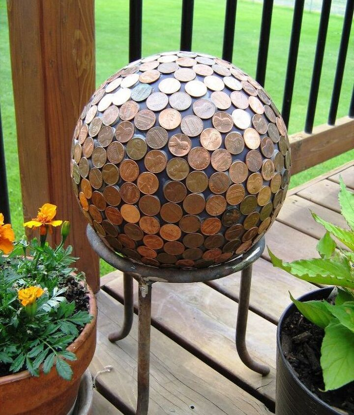 how to make a penny ball for your garden, crafts, how to