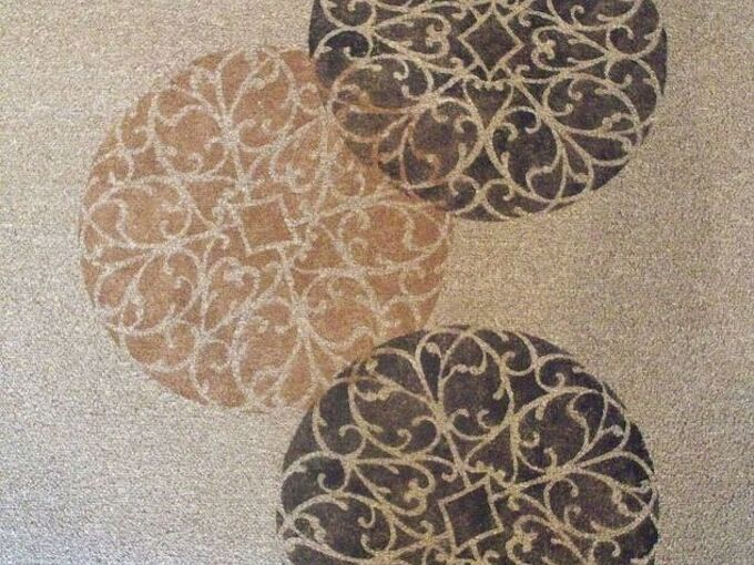 stenciled rug deck diy, decks, flooring, home decor, painting
