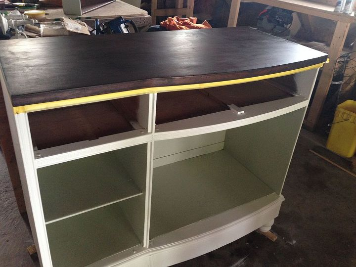 dresser wine bar tutorial, how to, painted furniture, repurposing upcycling