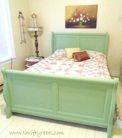 Sleigh Bed Makeover Hometalk