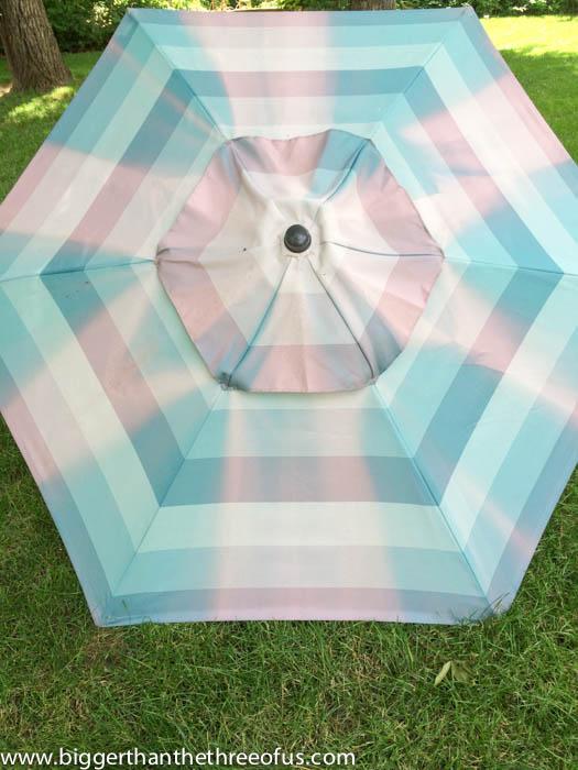 umbrella patio upcycle diy paint, diy, outdoor living, painting, patio, repurposing upcycling
