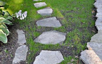 stepping stone path garden diy, concrete masonry, diy, landscape, outdoor living