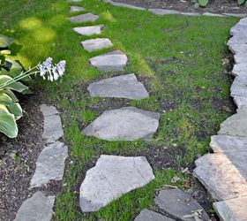 Stepping Stone Path Garden Diy, Concrete Masonry, Diy, Landscape, Outdoor  Living