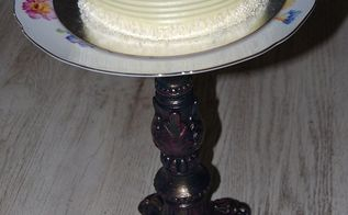 lamp cake plate upcycle repurpose diy, crafts, repurposing upcycling