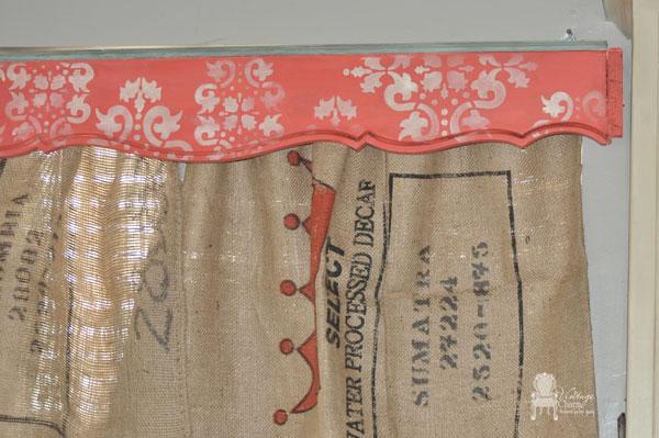 curtains burlap coffee sack diy, home decor, repurposing upcycling, window treatments