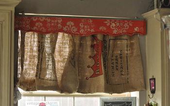 Burlap Coffee Sack Curtains