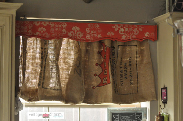 Burlap Coffee Sack Curtains Diy Hometalk