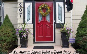 How to Spray Paint the Front Door!