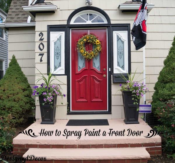 How to Spray Paint the Front Door! | Hometalk
