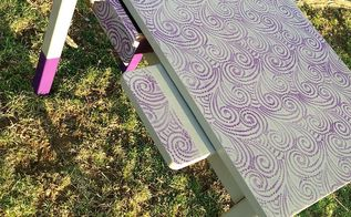 lace painted kids desk, painted furniture