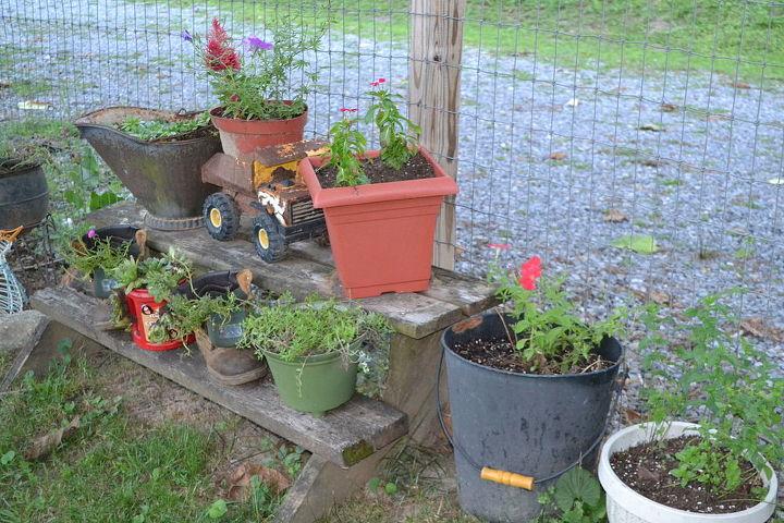 garden treasures virginia, container gardening, flowers, gardening, repurposing upcycling