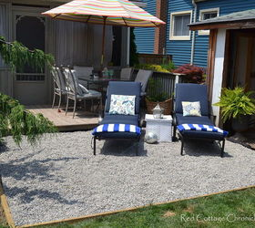 Pea Gravel Patio, Diy, Landscape, Patio, A Relaxing Space To Hang Out