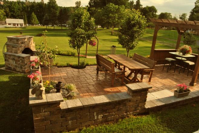 patio renovation stone garden, flowers, gardening, landscape, outdoor furniture, outdoor living, patio