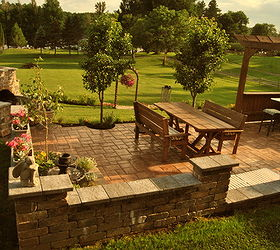 Patio Renovation Stone Garden, Flowers, Gardening, Landscape, Outdoor  Furniture, Outdoor Living