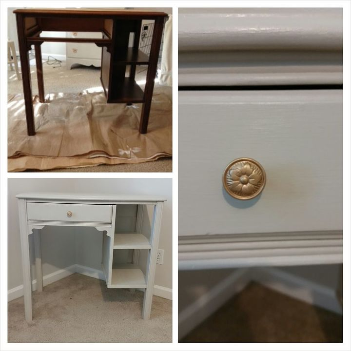 antique desk chair makeover, painted furniture, repurposing upcycling