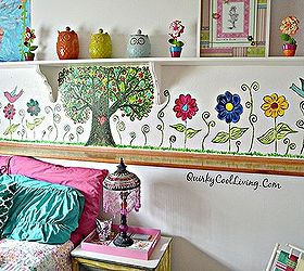 Mural Bohemian Little Girls Room, Bedroom Ideas, Diy, Home Decor, Painting Amazing Design