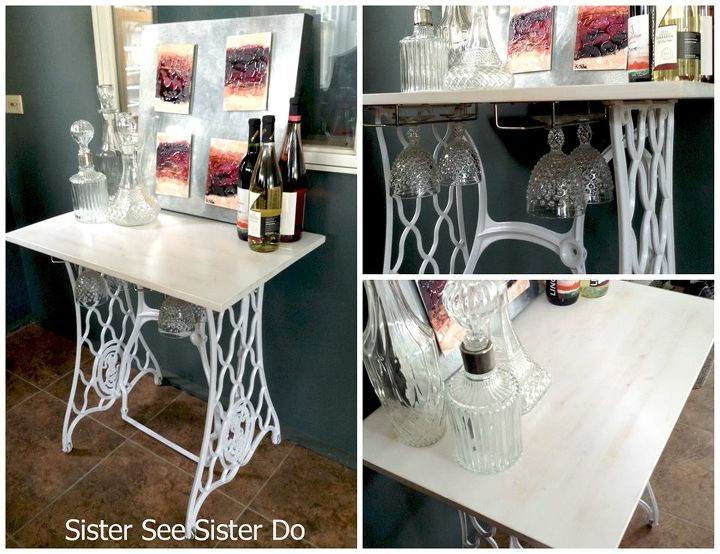 wine bar wintage upcycle, home decor, outdoor living, painted furniture
