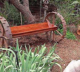 Tractor Wheel Garden Bench