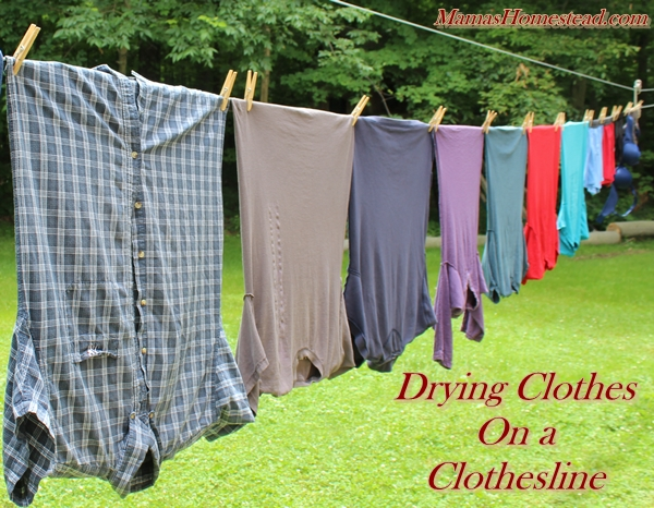 drying clothes on a clothesline, cleaning tips