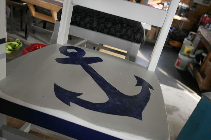 school desk nautical makeover, home decor, painted furniture
