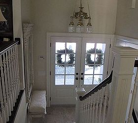 A Small Entrance Can Still Look Grand | Hometalk on ranch home remodeling ideas, raised ranch entryway ideas, outdoor stairs design ideas, mobile home entryway ideas, raised ranch exterior ideas, ranch house front design ideas, ceiling lighting design ideas, ranch home porch ideas, ranch home exterior color ideas, raised ranch interior paint ideas,