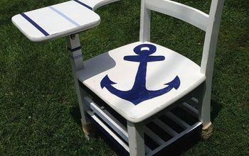 Nautical School Desk Makeover
