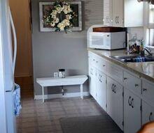 galley kitchen makeover refresh, diy, kitchen cabinets, kitchen design, painted furniture, painting