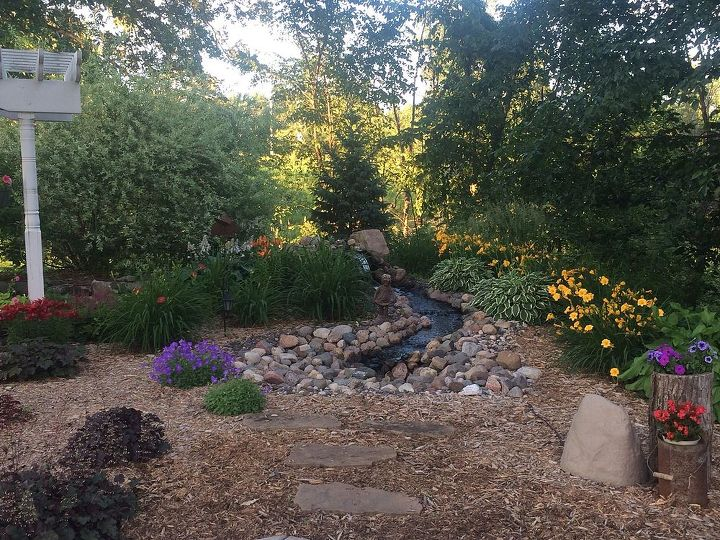 pondless waterfall and lillie s in wi, flowers, landscape, ponds water features