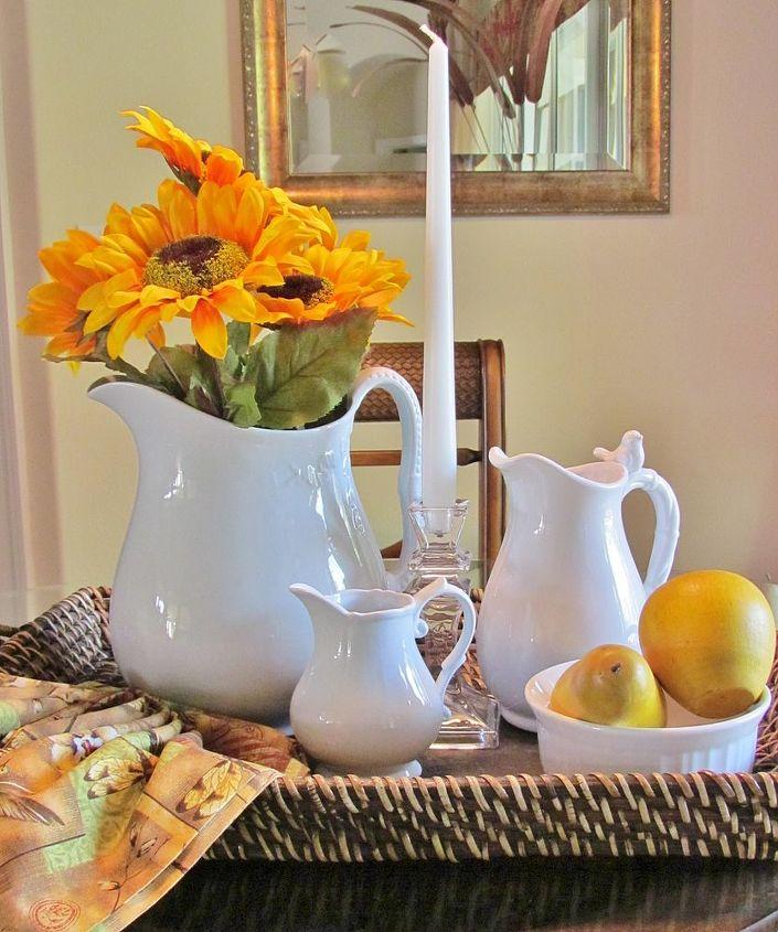 pitcher ironstone china vase, home decor
