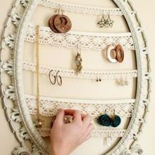 repurposed picture frame jewelry holder, organizing, repurposing upcycling