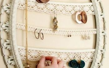 Repurposed Picture Frame Jewelry Holder