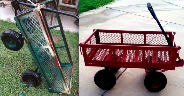 wagon cast off redo, repurposing upcycling