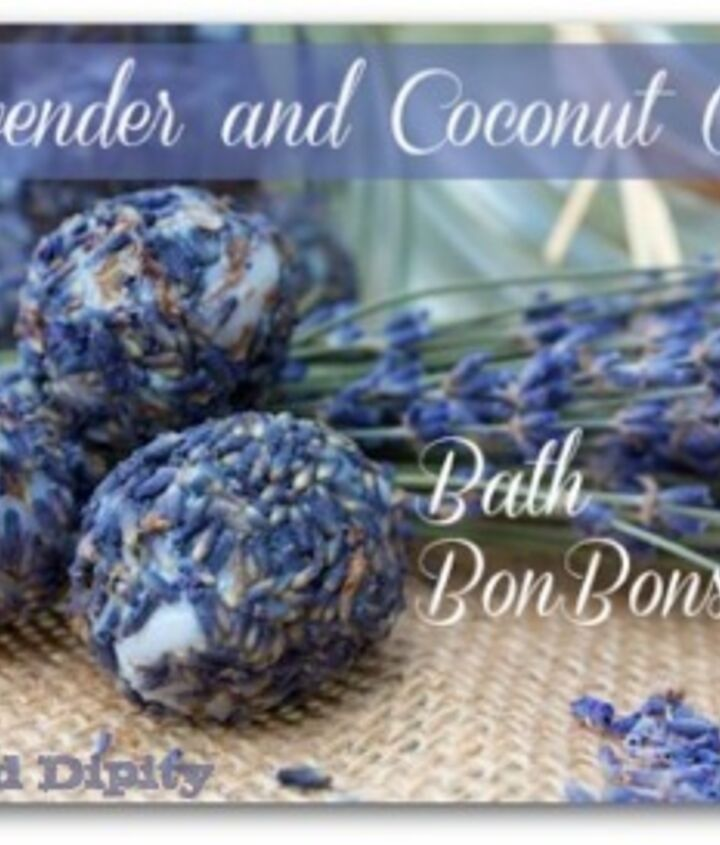 bath bonbons lavender coconut oil diy, crafts