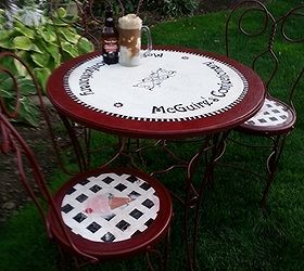 Soda Shop Table And Chairs Miniature Soda Fountain Table And Chair