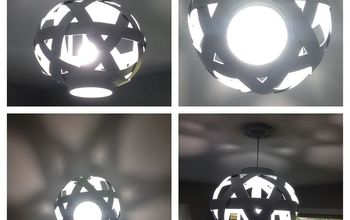 light fixture basket repurpose, diy, lighting, painting, repurposing upcycling