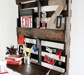 Desk Pallet Fold Up How To Build, Diy, Painted Furniture, Pallet,  Woodworking