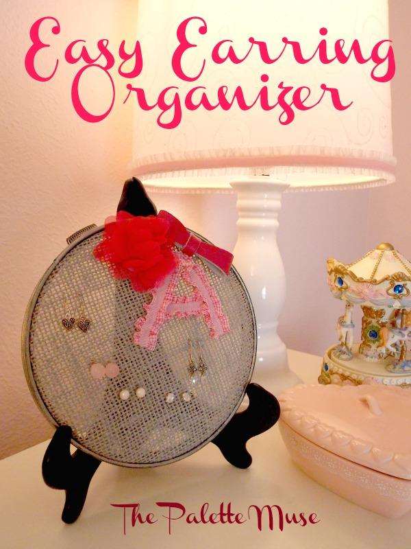 earring organizer burlap diy, crafts, organizing, repurposing upcycling